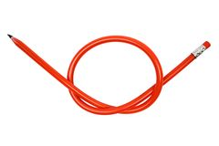 Knotted Pencil Royalty Free Stock Photo