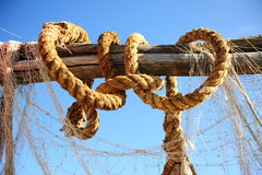 Knotted rope stock photos