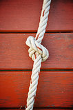 Knotted rope Royalty Free Stock Images