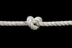 Knotted rope Stock Image