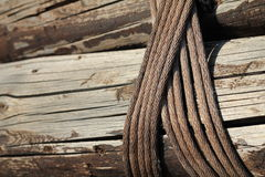 Knotted ropes Royalty Free Stock Image