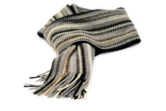 Knotted scarf isolated over white royalty free stock images