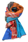 Knotted stitched scarf from batik and painted silk Royalty Free Stock Photography