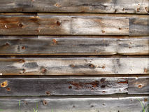 Knotted Wood Planks Wall/Background Royalty Free Stock Image