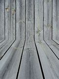 Knotted Wooden Wall and Floor Background Royalty Free Stock Images