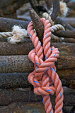 Knotted Nautical Rope Stock Image