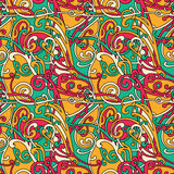 Knotty bright pattern. Knotty bright abstract seamless pattern Royalty Free Stock Images
