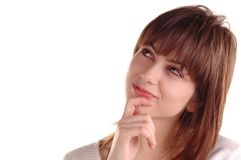 Know how. Beautiful  young woman has an idea Stock Image