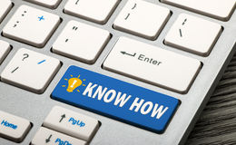 Know how concept. On keyboard Royalty Free Stock Photography