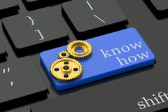 Know How concept on keyboard button Royalty Free Stock Photo