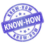 Know-how stamp Royalty Free Stock Image