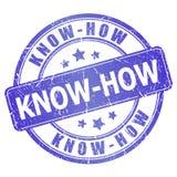 Know-how Stempel Lizenzfreies Stockbild