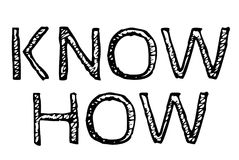 Know How typographic stamp. Typographic sign, badge or logo Royalty Free Stock Image
