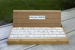 Know-how. The words know-how on an old school letter box Stock Image