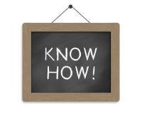 Know how. Written on blackboard Stock Photo
