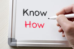 Know how written on whiteboard Royalty Free Stock Images