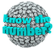 Know the Number Question Pound Symbol Hashtag Sphere Stock Photo