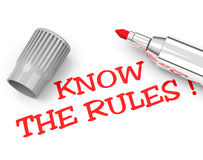 Know the rules Stock Images