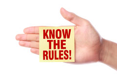 Know the rules Royalty Free Stock Image