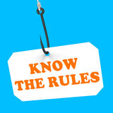 Know The Rules On Hook Shows Policy Protocol. Know The Rules On Hook Showing Policy Protocol Ethics Or Law Regulations Royalty Free Stock Image