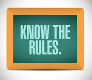 Know the rules illustration design Royalty Free Stock Image