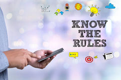 KNOW THE RULES Royalty Free Stock Photography