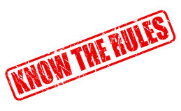 Know the rules red stamp text Royalty Free Stock Image