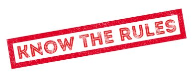 Know the rules rubber stamp Royalty Free Stock Photos