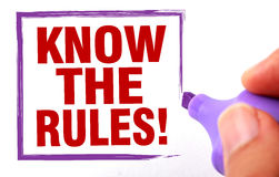 Know the rules Stock Photography