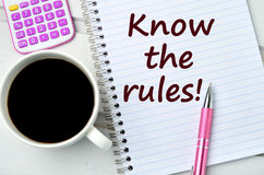 Know the rules words Royalty Free Stock Images