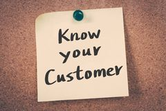 Know Your Customer royalty free stock photography