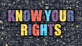 Free Know Your Rights On Dark Brick Wall. Stock Photos - 78780223