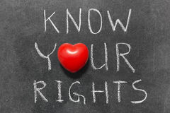 Know your rights Stock Photography