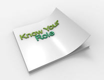 Know Your Role Stock Images
