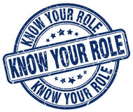 Know your role stamp Stock Image
