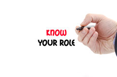 Know your role text concept Royalty Free Stock Images
