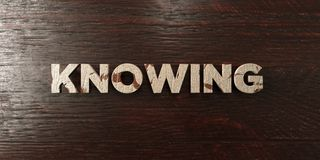 Knowing - grungy wooden headline on Maple  - 3D rendered royalty free stock image. This image can be used for an online website banner ad or a print postcard Stock Photography