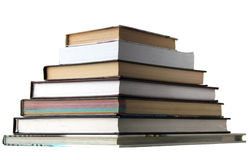 Knowledge. Pyramid of books isolated on a white background Royalty Free Stock Image