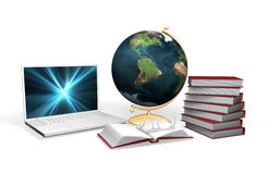 Knowledge. 3D rendered conceptual image depicting knowledge and learning Royalty Free Stock Image