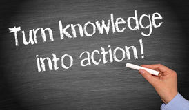 Knowledge into action! Stock Images