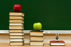 Knowledge and apples Stock Image