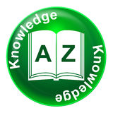 Knowledge Badge Shows Learn Tutoring And Comprehension Stock Photos