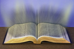 Knowledge through the Bible. This image shows the information that can be learned through reading the Bliblia Stock Photo