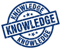 knowledge blue round stamp Royalty Free Stock Photography