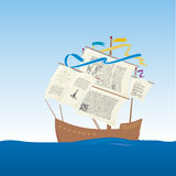Knowledge boat (vector) Royalty Free Stock Images