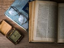 Knowledge, Book, Library, Glasses Royalty Free Stock Photos