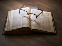 Knowledge, Book, Library, Glasses Stock Photos