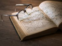 Knowledge, Book, Library, Glasses Royalty Free Stock Photography