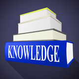 Knowledge Book Means Textbook Understanding And Books. Knowledge Book Indicating Non-Fiction Understanding And Expertness Royalty Free Stock Photos