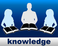 Knowledge Books Indicates Proficiency Textbook And Expertness Royalty Free Stock Image
